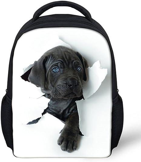 Casual School Backpack Twelve Dogs in A Row Print Laptop Rucksack Multi-Functional Daypack Book Satchel