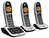BT 4600 Big Button Advanced Call Blocker Cordless Home Phone with Answer Machine (Trio Handset Pack)