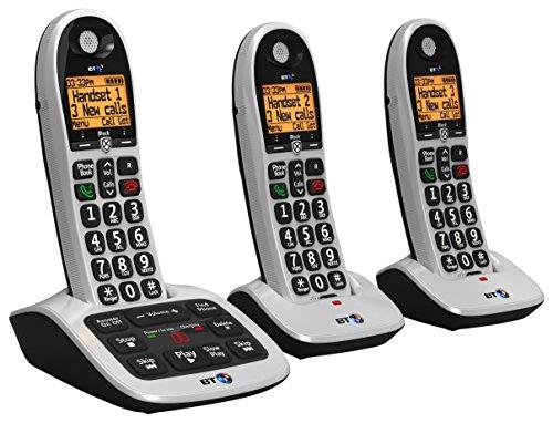 BT 4600 Big Button Advanced Call Blocker Cordless Home Phone with Answer Machine (Trio Handset Pack)