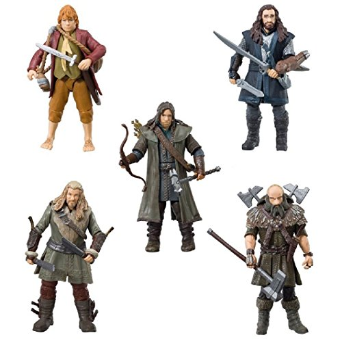 "The Bridge Direct Hobbit Hero Pack - Bilbo, Thorin, Dwalin, Kili and Fili 3.75"" Figure Box Set"