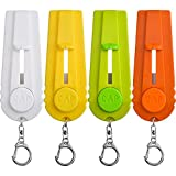 TOODOO 4 Pieces Beer Bottle Opener Cap Zappa Cap Shooters Launchers Keychain, 4 Colors