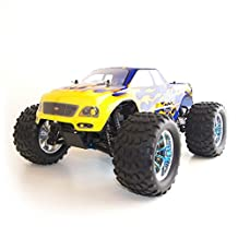 ALEKO® 94188 4WD Nitro Powered High Speed Off Road Vertex 18 CXP Monster Truck, Blue 1/10 Scale