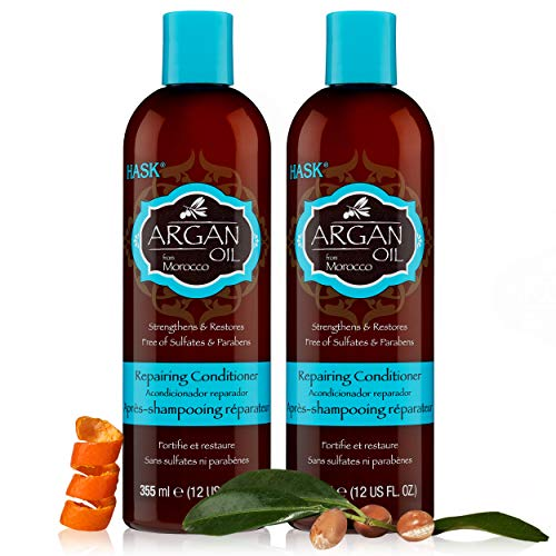 HASK ARGAN Oil Conditioner Set of 2 Repairing for all hair types, color safe gluten free, sulfate free, paraben free - Set of 2 Conditioners