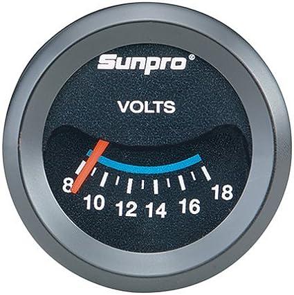 Sunpro Cp7985 Customline Electrical Voltmeter Black Dial Auto