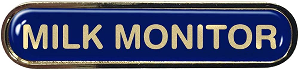 Capricornone Milk Monitor Gel Domed School Bar Badge