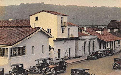 Santa Barbara California De La Guerra Street Scene Antique Postcard K104767