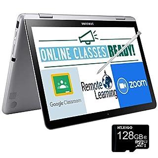 2020 Samsung Chromebook Plus V2 12.2 Inch Touchscreen 2-in-1 Laptop| FHD 1200P Display| Intel Core m3-7Y30 up to 2.6 GHz| 4GB RAM| 64GB eMMC| Bluetooth| Chrome OS + NexiGo 128GB MicroSD Card Bundle