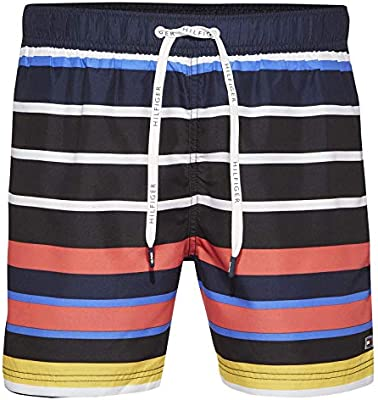 dbd5e016 Tommy Hilfiger Swim Shorts For Men - Multi Color, Medium: Amazon.ae