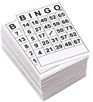 Generic Bingo Game Paper Cards 60 Sheets 60 Faces Without Repeat Single Design