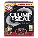 Arm & Hammer Cat Litter Clump and Seal Multi-Cat, 17.2 kg