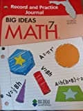Big Ideas Math 7 Record and Practice Journal Florida Edition, Larson and Boswell, 1608400085