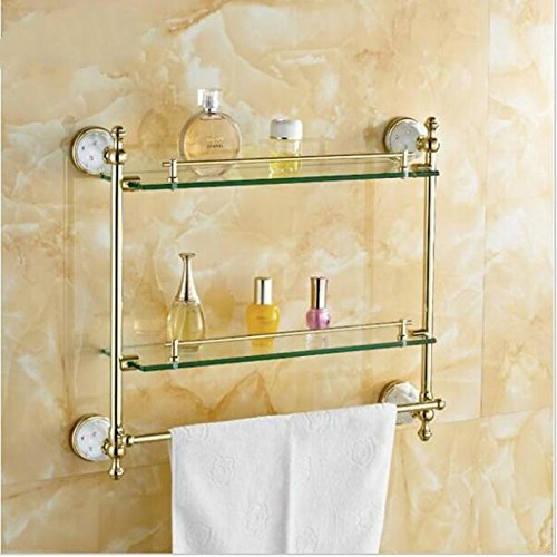hot sale AUSWIND European Polished Gold Brass Bathroom Shelves ...