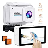 WiMiUS Touchscreen Action Camera 4K 2.45' LCD Touch Screen 16MP 1080P 30M Underwater Cameras WiFi Waterproof Cam Sports Camcorder 170° Wide-Angle Lens Helmet Camera with Accessories Kit, L3 White