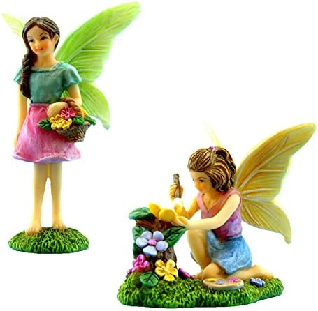 PRETMANNS Fairy Garden Fairies Miniature Accessories 2 Garden Fairies Fairy Garden Supplies