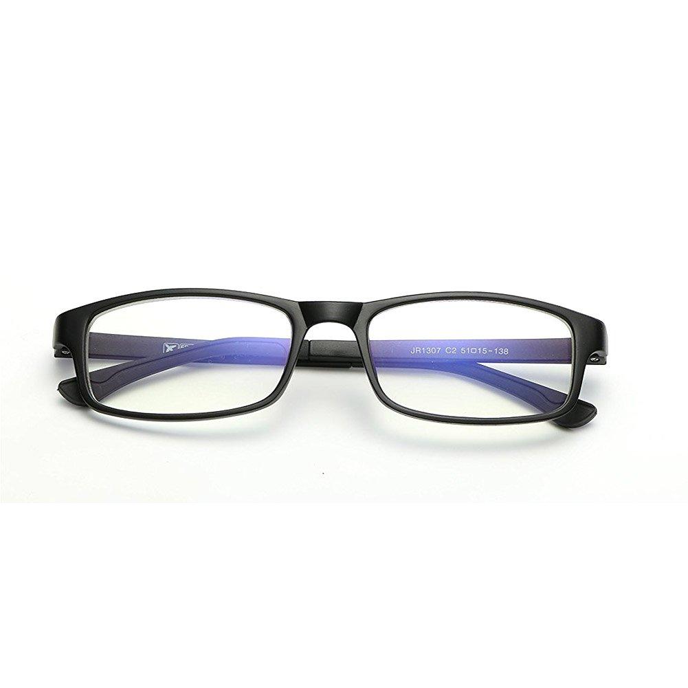 Cyxus Blue Light Blocking Glasses for Computer Use, Anti Eyestrain Lens TR90 Frame Eyeglasses, Black, Men/Women (Matte Black)