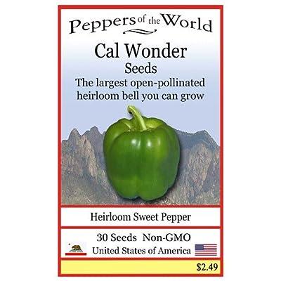 Cal Wonder Pepper 30 Seeds - Heirloom Sweet Green Bell Pepper - Non-GMO : Garden & Outdoor