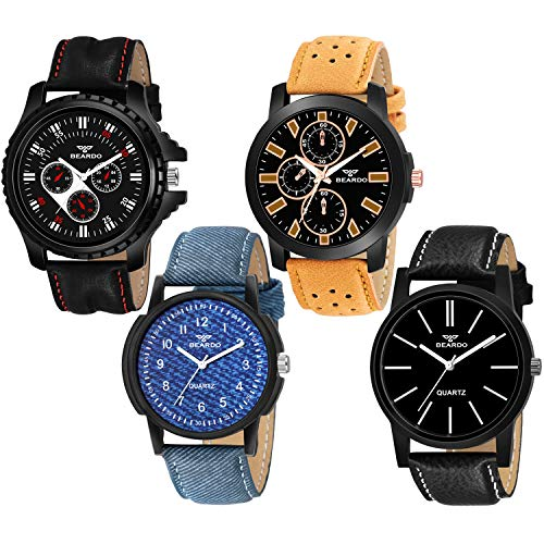 BEARDO Designer Collection Combo of 4 Analog Multicolor for Boys Watch