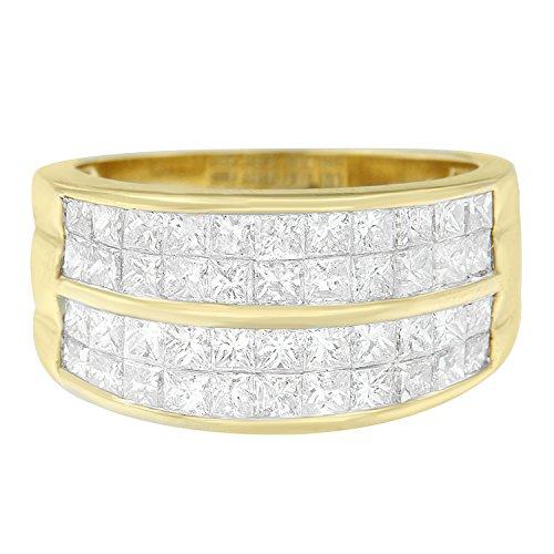 Original Classics 14K Yellow Gold Princess Diamond Cluster Ring (2.30 cttw, H-I Color, I1-I2 Clarity)