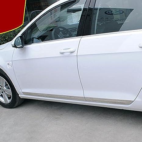 HIGH FLYING Molduras de puerta lateral cromadas de alto volteo, 4 piezas de acero inoxidable para Golf 7 2013-2018 de coche de 5 puertas: Amazon.es: Coche y ...