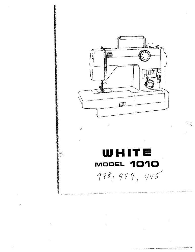 White W988 W999 W1010 W1210 Sewing Machine Owners Manual Reprint FREE SHIPPING