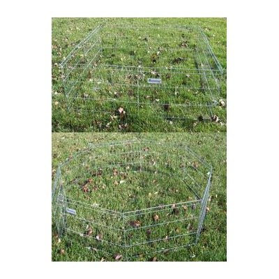 Pet Tek DPK86642 Dream Zone Exercise Play Pen with Bolt Snap Dog Crates, 42-Inch, Silver by Pet Tek (Image #1)