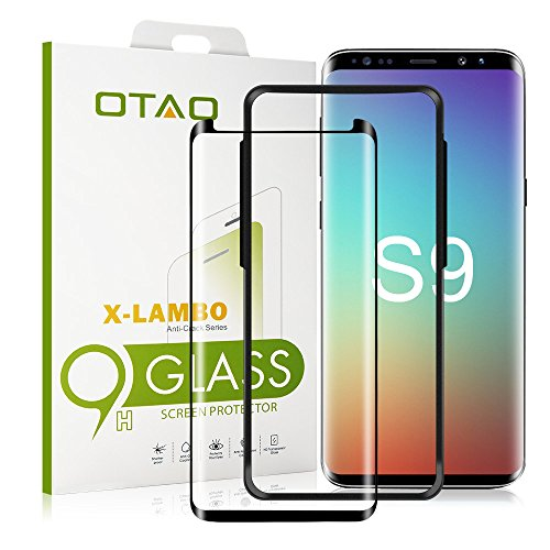 Galaxy S9 Glass Screen Protector, [Update Version] OTAO 3D Curved Samsung S9 Tempered Glass Screen Protector 2018 with Easy Installation Tray (Case Friendly)(NOT S9 PLUS)