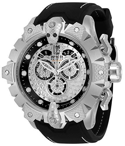 Invicta JT Reloj de cuarzo de acero inoxidable para hombre con correa de silicona, negro, 26 (modelo: 32557)