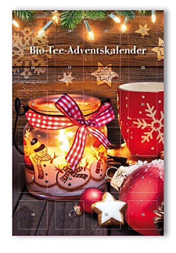 Bio-Tee-Adventskalender mit 24 Pyramidenbeuteln in XXL Format