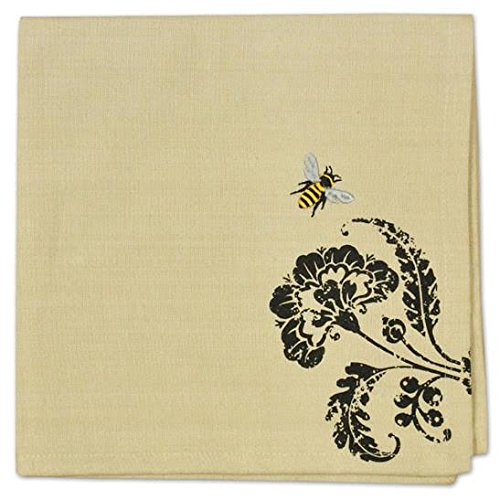Heart of America Busy Bee Embroidered Napkin - 6 Pieces