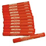 Dixon 52000 Lumber Marking Crayons, Red, 12-Pack