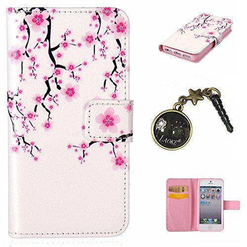 PU Silikon Schutzhülle Handyhülle Painted pc case cover hülle Handy-Fall-Haut Shell Abdeckungen für Apple iphone5 5S SE +Staubstecker (7)