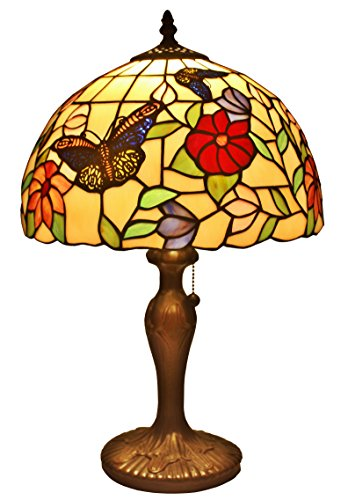 (Amora Lighting AM061TL12 Tiffany Style Butterflies Table Lamp 19 Inches)
