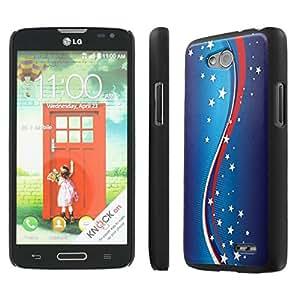 NakedShield LG Optimus L90 (Waves of Stars) SLIM Art Phone Cover Case