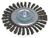 "Osborn Economy High Speed Stringer Bead Knot Wire Wheel Brush, Steel Bristle, 20000 RPM, 4"" Diameter"