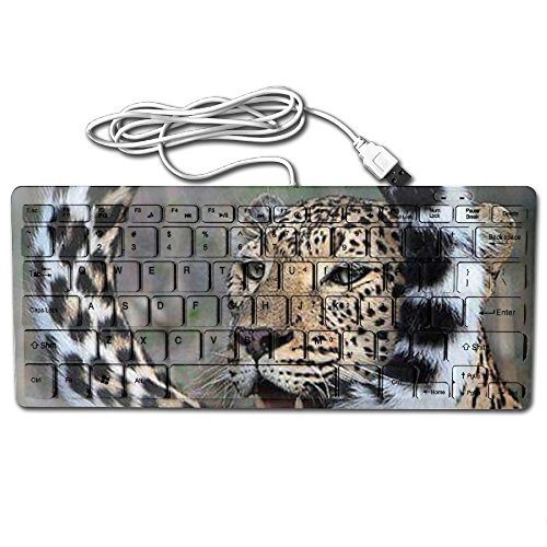 (Mortal Dream Ultrathin Mini Keyboard Curly Tail Leopard Wired Gaming Keyboard Computer Accessories Keyboards For Laptop)