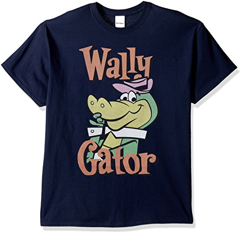 (Hanna-Barbera Men's Wally Gator T-Shirt, Navy, XL)