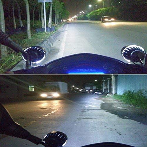 HANEU 2 pcs 12V Motorcycle Spotlights Led Headlights 24W 4 LEDs Universal Waterproof Motorcycle Headlight Driving Fog Spot Head Light Spotlight Lamp Scooter Spot Light Auxiliary Lights