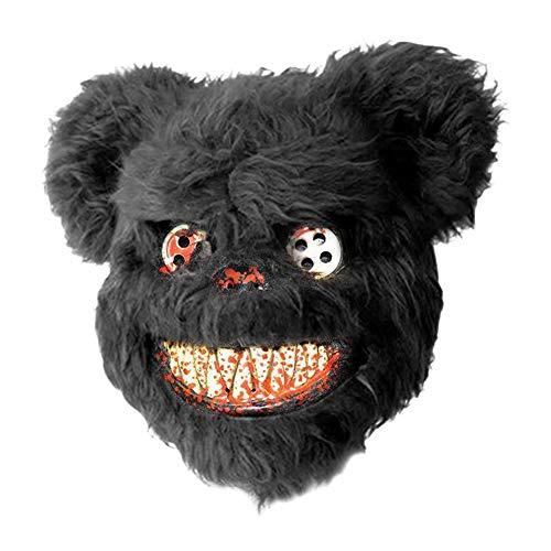 Teddy Bear Halloween Mask (Teddy Bear Mask Scary Bloody Bear Mask Halloween Horror Mask Evil Bloody Mask Plush)