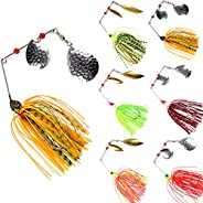 Fishing Spinner Baits Bass Fishing Lure Kit Hard Metal Spinnerbait Buzzbait Swimbaits Fishing Jig Lure Set for