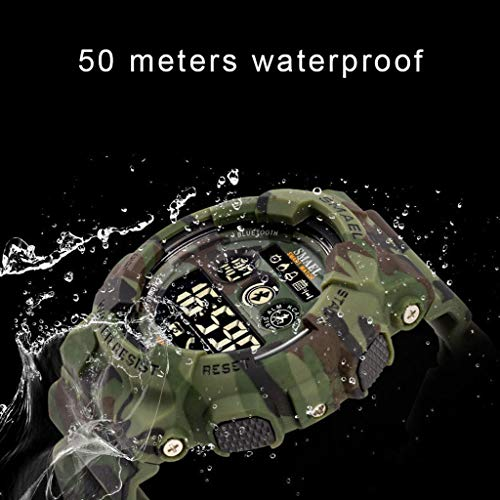 Armbandsur digital smart sport multifunktion, vattentät lysande bluetooth kalorpåminnelse larm avslappnad herrklocka - flerfärgad vardaglig