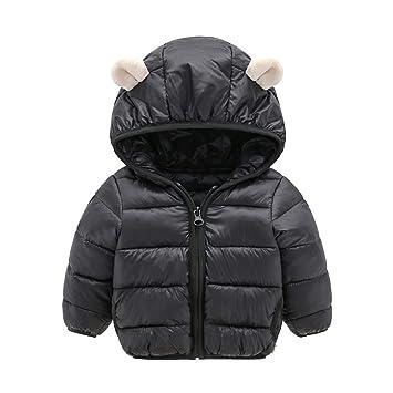 22d6673f45fef Baby Boys Winter Coat Toddler Boys Girls Lightweight Puffer Warm Hoodie Down  Coats Snowsuit (age