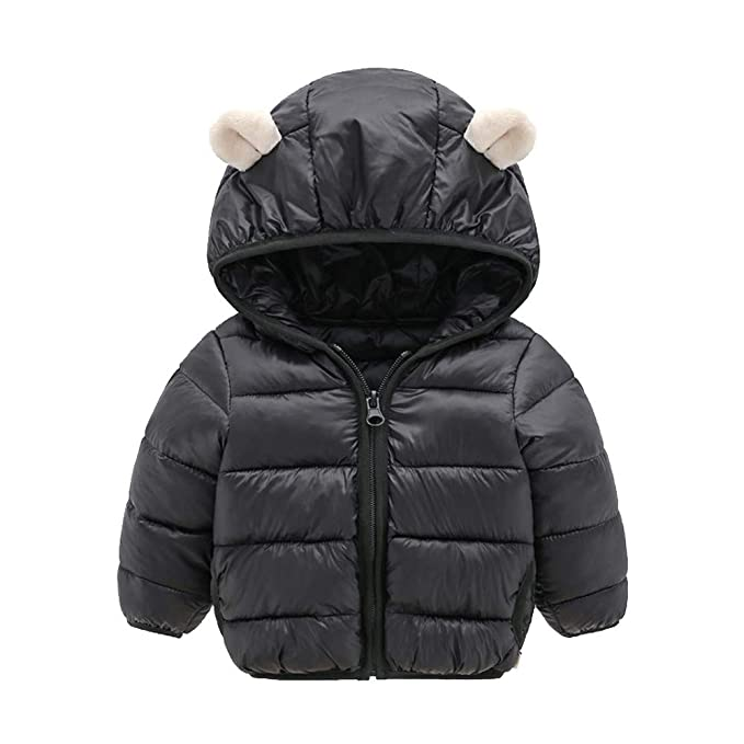 d7b8a2fbd VEKDONE Winter Coats Kids Ear Hoods Light Puffer Jacket Baby Boys Girls,  Infants, Toddlers