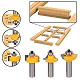 Woodworking Cutter - 3pcs Solid Hardened Glass Door Router Bit Set 2 Quot Shank Round Bead Woodworking Cutter - Moment Routine Minute Injured Morsel