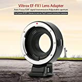 VILTROX EF-FX1 Auto Focus Lens Mount Adapter for Canon EF/EF-S Lens to Fuji X-Mount Mirrorless Cameras X-T1 X-T2 X-T10 X-T20 X-A1 X-A2 X-A3 X-A5 X-A10 X-A20 X-E1 X-E2 X-E3 with Andoer Cleaning Cloth
