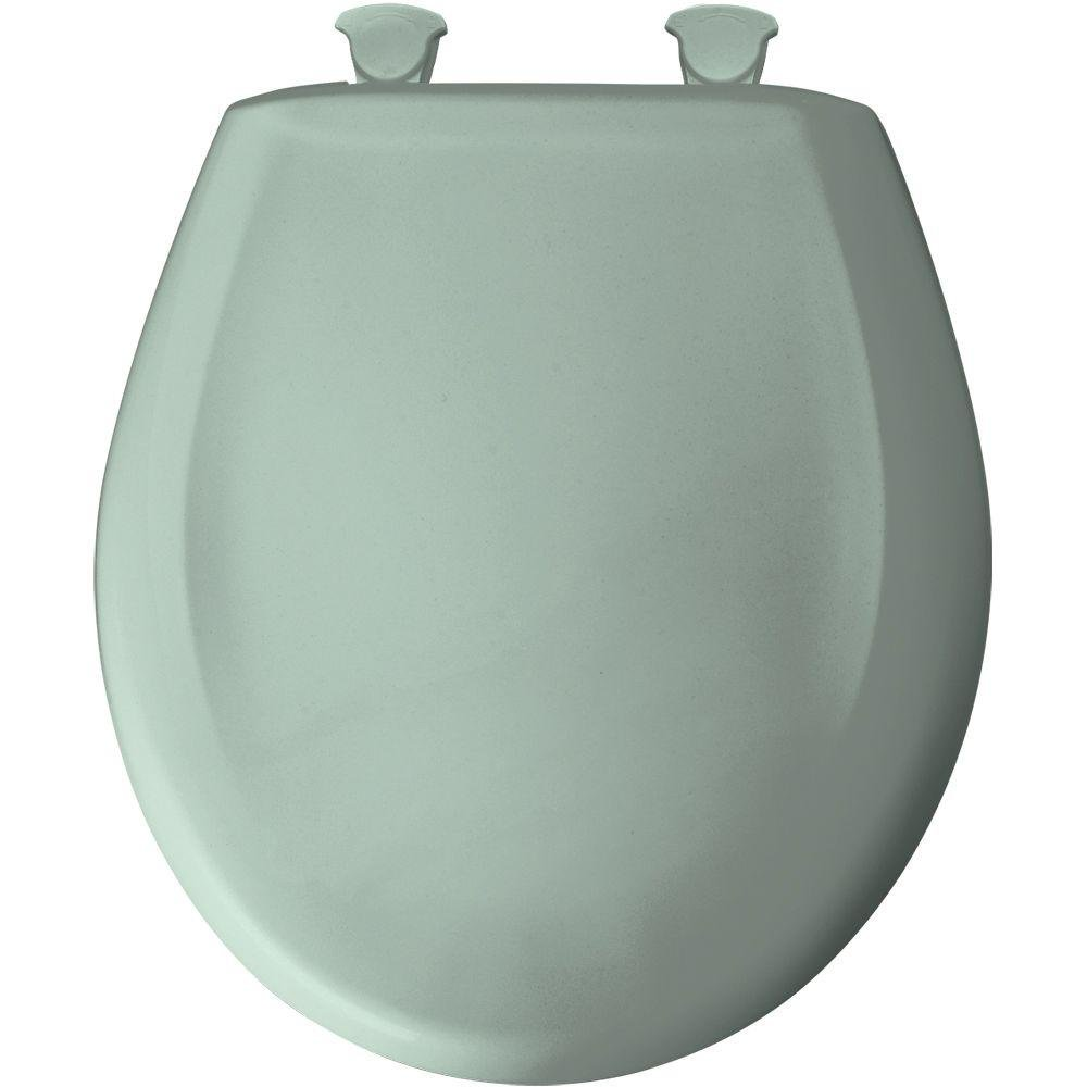 Bemis 200SLOWT 455 Lift-Off Plastic Round Slow-Close Toilet Seat, Seafoam