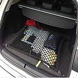Juntu Black Mesh Vehicle Organizer Cargo net/Heavy Duty net. Grocery Lover's Favorite/Tool Free Installation. for Car Vans SUV for Mercedes-Benz GLK300 GLK350