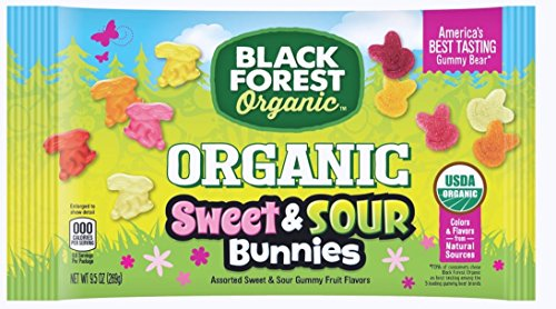 Black Forest Organic Sweet & Sour Bunnies, Assorted Fruit Flavors, 9.5 Ounces by Black Forest Organic