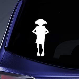 "Bargain Max Decals Magic Elf Silhouette Sticker Decal Notebook Car Laptop 5.5"" (White)"