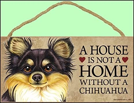 12,7/x 25,4/cm Tan SJT 1/x A House is Not a Home Without Chihuahua /Segnale per Porta /