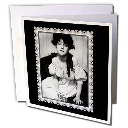 3dRose Greeting Cards, 1902 Gertrude Keebler, 6 x 6 Inches, Evelyn Nesbitt Portrait (gc_160829_2)